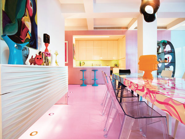 Dining Room with Colorful Accents