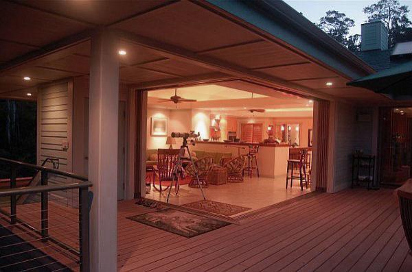 Elegant Outdoor Patio with Sleek Wooden Deck Design Ideas