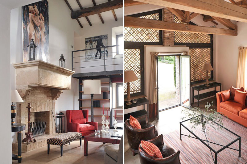 Exotic Living Room with Mezzanine Ideas