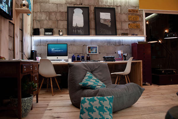 Exciting Home Office with Multimedia Library Design Ideas