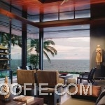 Exotic Lounge Ocean House with Sea View