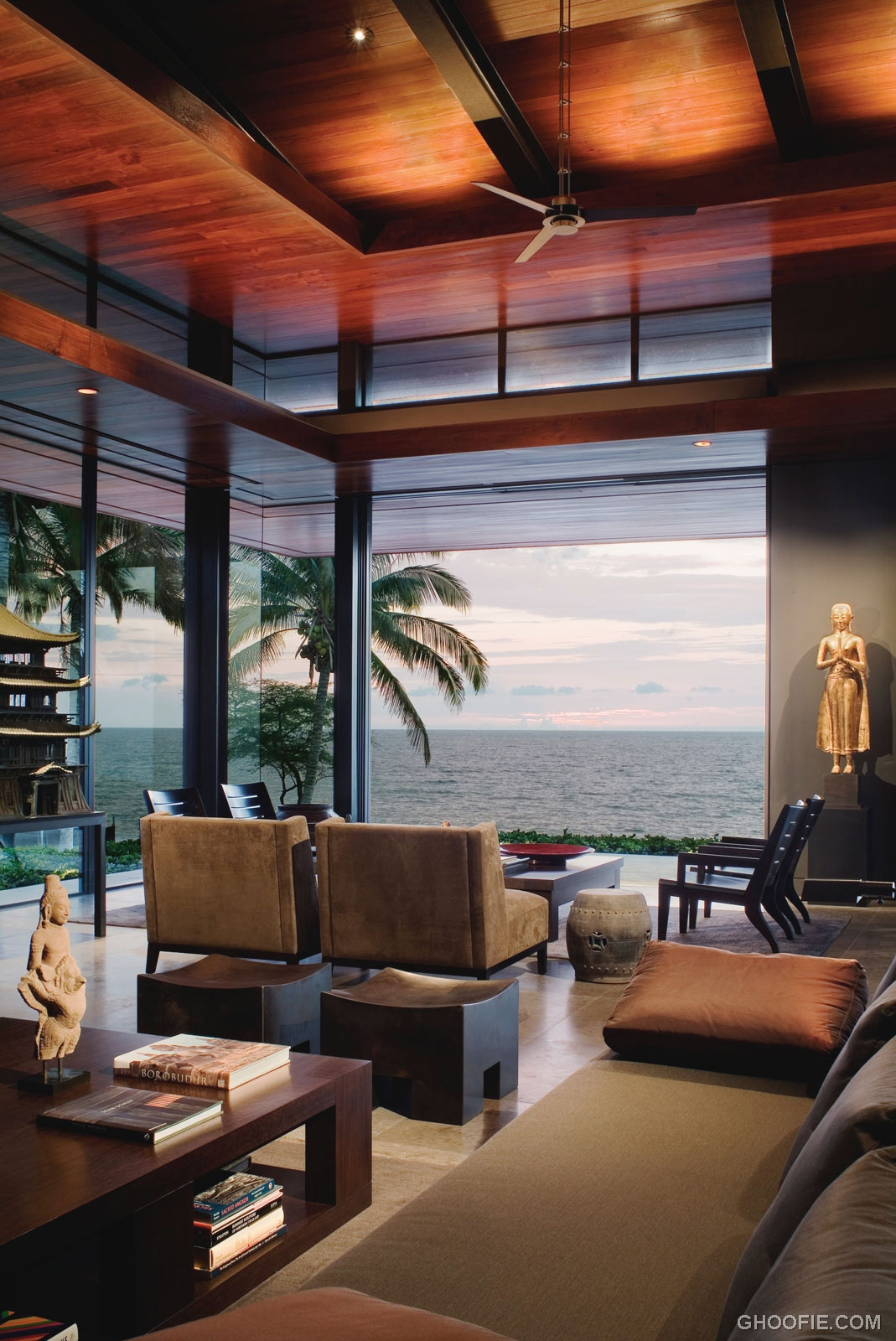 Exotic Lounge Ocean House With Sea View Interior Design