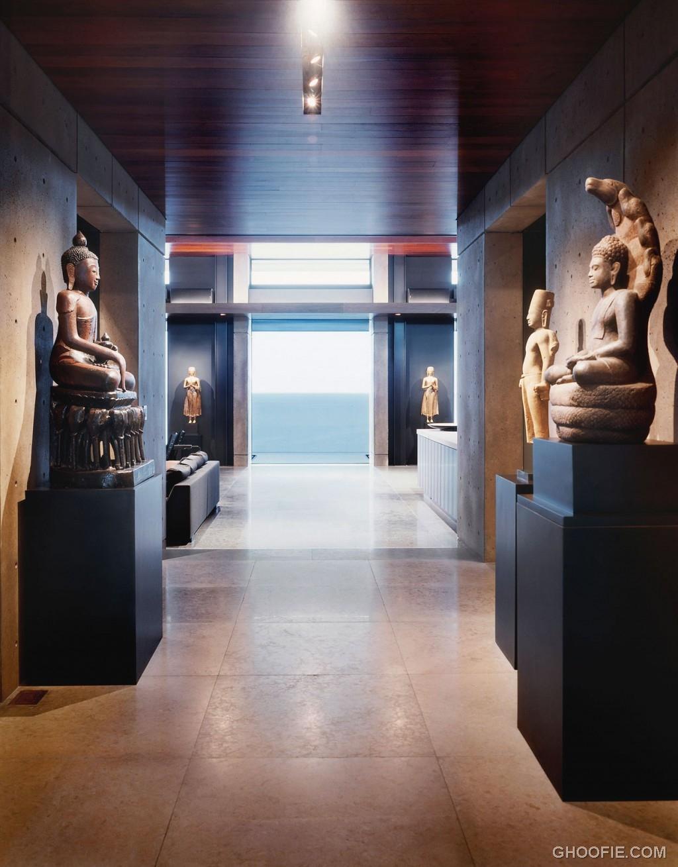 Hawaii Villa Interior with Hindu Statue