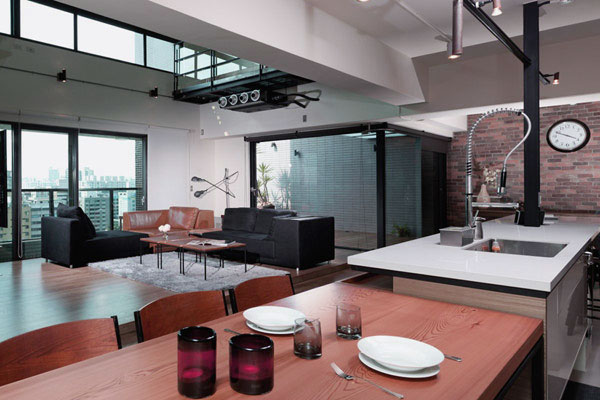 Kitchen and Dining Room in One Area Design