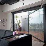 Living Room Design with Large Sliding Door