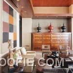 Living Room Hawaiian House with Wooden Furniture