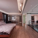 Minimalist Bedroom Design with Sliding Glass Door