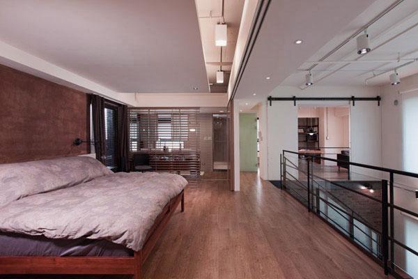Minimalist bedroom design with sliding glass door interior design ideas - Stylish penthouse interior design introducing the charming minimalism ...