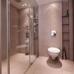 Modern Bathroom Design with Mirrors Wall Ideas