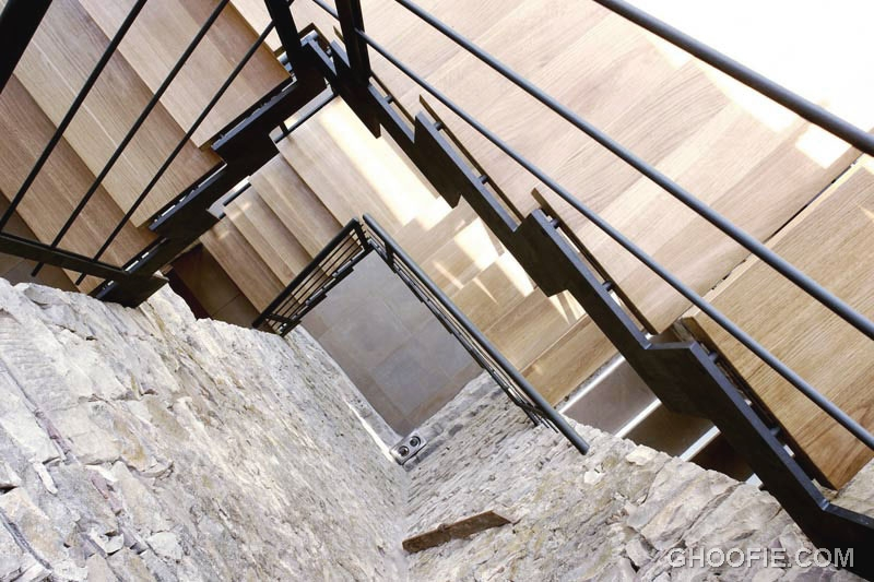 Modern Minimalist Open Wooden Staircase