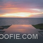 Pool Terrace with Sea Views and Beautiful Sunset