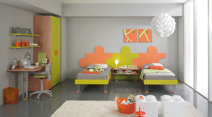 Pop Color Kids Bedroom for Two