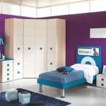 Purple and Blue Boys Bedroom with iPod Nano Decor