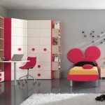 Red Mickey Mouse Shape Bed Ideas for Kids