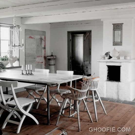 Vintage Dining Room Design with Traditional Dining Table