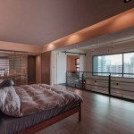 Warm Bedroom Design with Wooden Floors