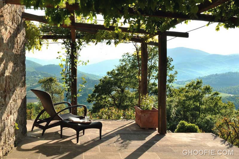 Warm Sun Terrace with Chestnut Rolling Hills View