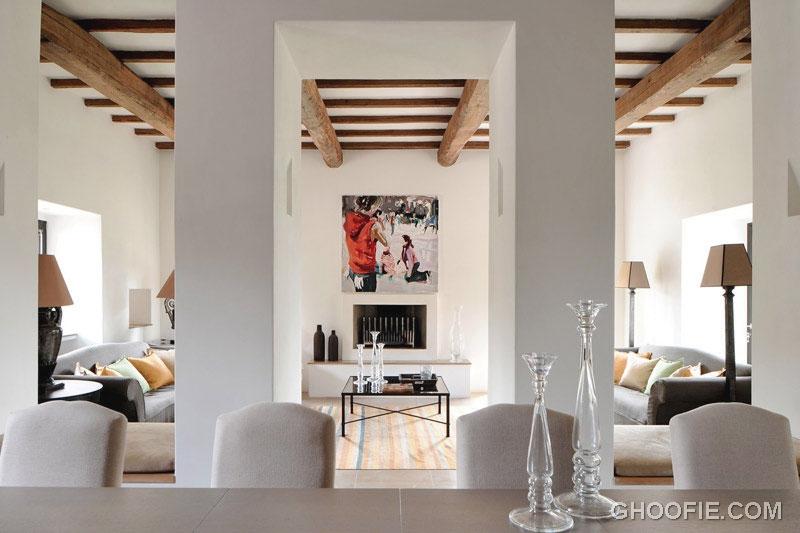 White Minimalist Classic Living Area