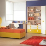 Yellow Orange Modern Mickey Mouse Bed for Kids