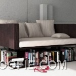 Awesome Levitating Sofa with Bookcase Design Ideas