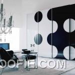 Black White Interiors Design with Luxury Chandelier