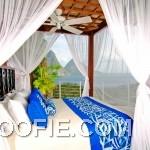 Blue White Bedroom Valance Resort Design