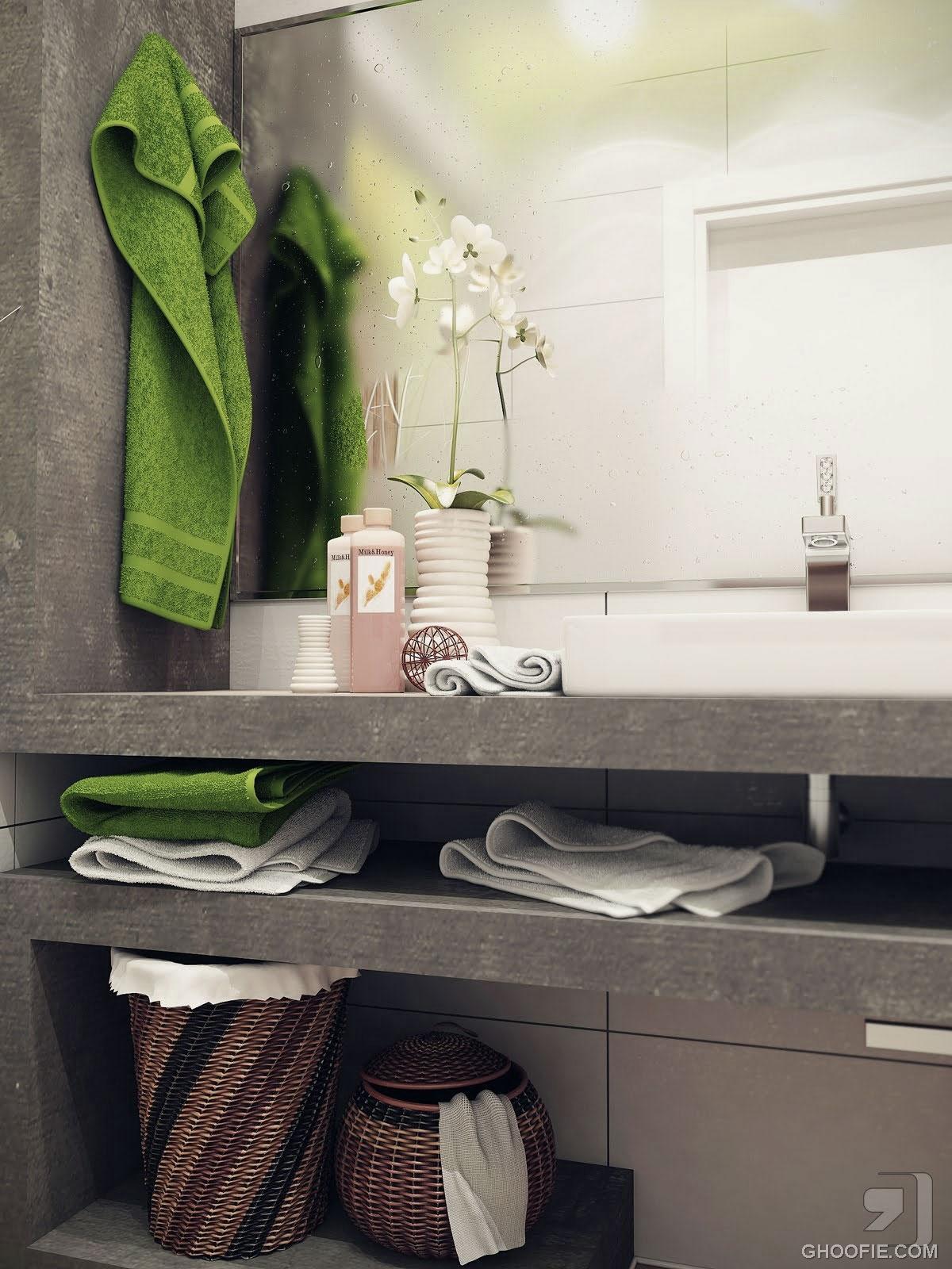 Bright White Small Bathroom Design Ideas