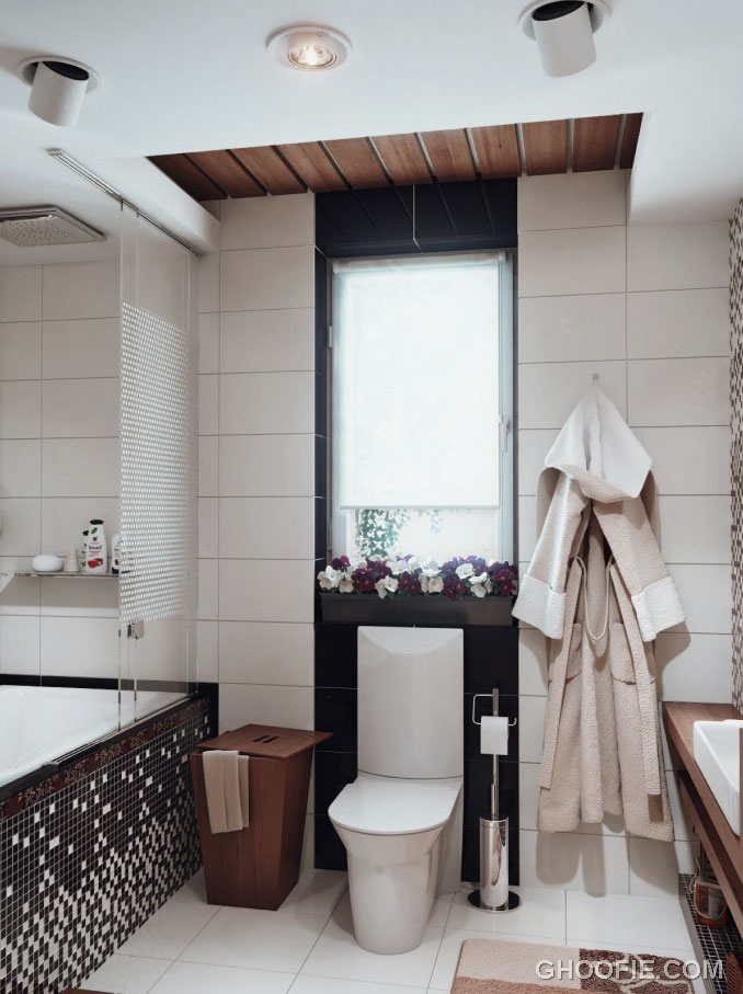 Cool Monochrome Bathroom Design