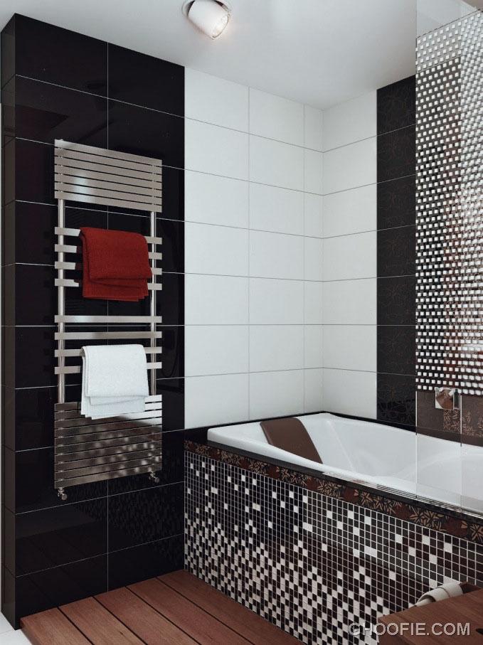 Gorgeous Black White Mosaic Bathroom Tile Ideas