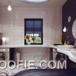 Luxury Small Bathroom with Drip Lamp Design