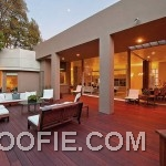 Modern Home Design with Outdoor Wooden Deck