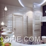 Modern Purple White Bathroom Decor