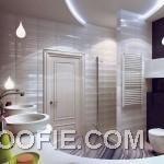 Modern Purple White Bathroom Decor