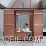 Unique Wooden Wardrobe Design with Sauna