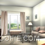 Awesome Living Room Rendering 2013