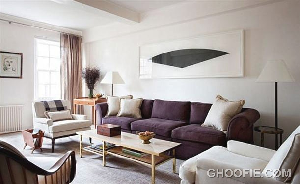 Calm Living Room Interior Design by Shawn