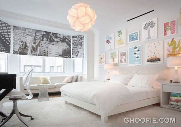 Clean white bedroom interior design by reese roberts for Clean bedroom designs