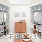 Clean and Bright Modern Walk in Closet Design