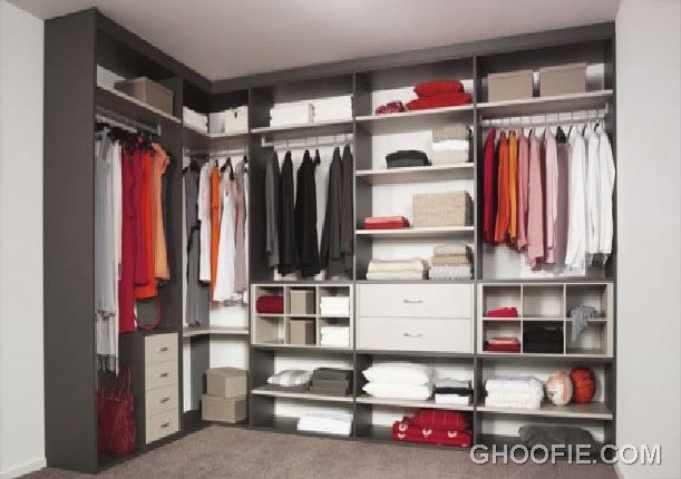 Cool Gray Interior Furniture Closet Storage Furniture Design