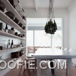 Dining Room Design Ideas with Concrete Wine Rack