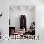 White Interior House Design with Colonial Style
