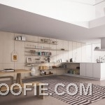 Awesome Kitchen Rendered with Simple Shelves