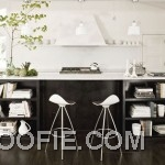Contemporary Black White Kitchen Furniture Design