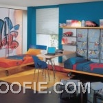 Blue and Yellow Bedroom for Boys Brother