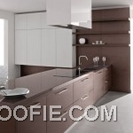 Contemporary Kitchen Design with Brown White Furniture