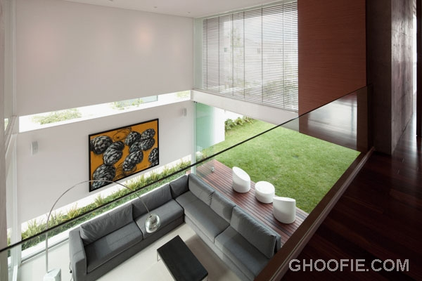 Contemporary Living Room with High Ceiling Design Ideas