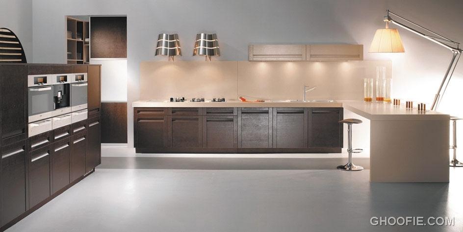 Elegant Kitchen with Ceiling Light
