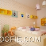 Kids Room with Low Platform Bed Design