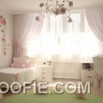 Lovely Pink Girls Bedroom with Flowers Decor