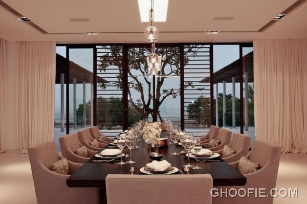 Luxurious Phuket Home Decorations with Contemporary Dining Room Furniture